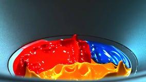 Beginn des Tanzes von Farben lizenzfreies stockbild