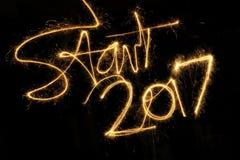 Beginnen Sie 2017 Stockbilder