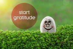 Beginnen Sie Dankbarkeit lizenzfreie stockbilder