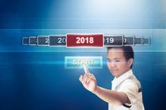 Beginnen Sie das neue Jahr 2018 lizenzfreies stockbild
