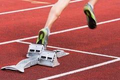 Beginnen Sie in der Leichtathletik Lizenzfreies Stockbild