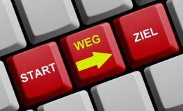 Beginnen Sie Deutschen des Weisen-Ziels online - Lizenzfreies Stockfoto