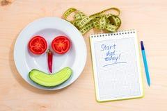 Beginnen Sie Diät heute stockbild