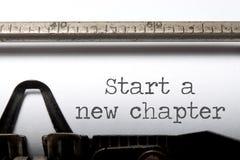 Beginnen Sie ein neues Kapitel lizenzfreie stockbilder