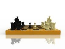 Beginnen Sie ein Spiel des Schachs Lizenzfreie Stockbilder
