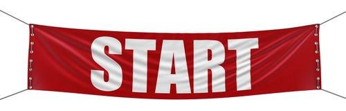 Beginnen Sie Fahne (den Beschneidungspfad eingeschlossen) Lizenzfreies Stockbild