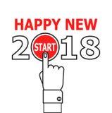 Beginnen Sie Idee 2018 des neuen Jahres Stockfotos