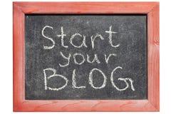 Beginnen Sie Ihr Blog Stockfotografie