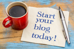 Beginnen Sie Ihr Blog heute Lizenzfreies Stockfoto