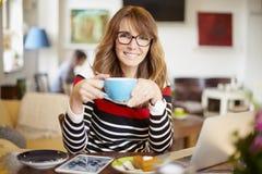 Beginnen Sie mein Tag mit einem guten Kaffee Stockfoto