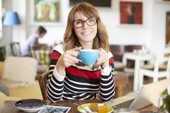 Beginnen Sie mein Tag mit einem guten Kaffee Lizenzfreies Stockbild