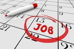 Beginnen Sie neues Job Word Writing Calendar Day-Datum Vektor Abbildung