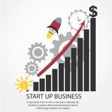 Beginnen Sie oben Geschäfts-Vektor Stockfotografie