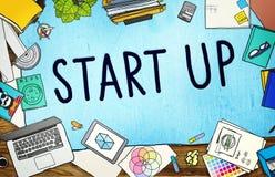 Beginnen Sie oben Geschäftschance-Entwicklungs-Erfolgs-Konzept Stockfotografie