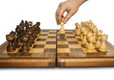 Beginnen Sie am Schach Lizenzfreies Stockfoto