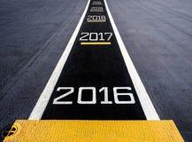Beginnen Sie zu neuem Jahr zwei tausend sechzehn (2016), Stockfotografie