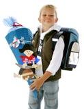 The Beginner. Littel boy is beginning the school Stock Image