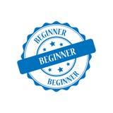 Beginner stamp illustration. Beginner blue stamp seal illustration design Stock Photo