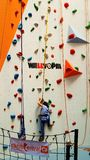 Beginner Climbing Walls Obstacle Training Sports Stock Photo
