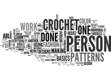 Beginner Crochet Patterns Word Cloud. BEGINNER CROCHET PATTERNS TEXT WORD CLOUD CONCEPT Stock Photography