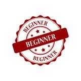 Beginner stamp illustration. Beginner red stamp seal stamp illustration Royalty Free Stock Images