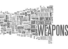 A Beginner S Guide To Medieval Weapons Word Cloud Stock Images