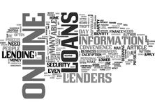 A Beginner S Guide To Online Loans Word Cloud Stock Photos