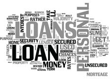 A Beginner S Guide To Personal Loans Word Cloud Royalty Free Stock Photos