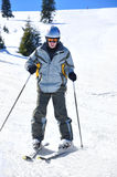 Beginner skier Stock Photo