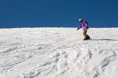Beginner snowboarder man stock images