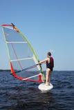 Beginner windsurfer Royalty Free Stock Photos