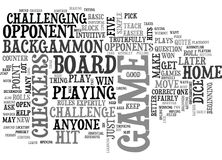 Beginners Backgammon How Tough Is It Word Cloud. BEGINNERS BACKGAMMON HOW TOUGH IS IT TEXT WORD CLOUD CONCEPT Stock Photography