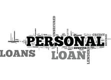 A Beginners Guide To Personal Loans Word Cloud Stock Illustration