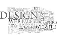 A Beginners Guide To Web Page Design Word Cloud Vector Illustration