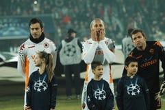 Beginning of AS Roma - CFR Cluj match Royalty Free Stock Photos