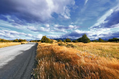 The beginning of autumn in the Patagonia Stock Photo