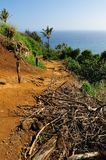 Beginning of Awini Trail Big Island Hawaii Royalty Free Stock Photography