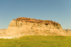 The beginning of the badlands Stock Image