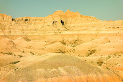 The beginning of the badlands Royalty Free Stock Photography