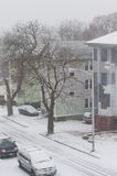 The beginning of the blizzard of 2013, also coined  Royalty Free Stock Images