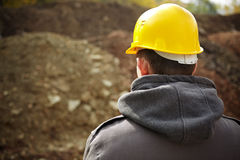 Beginning the construction royalty free stock photography