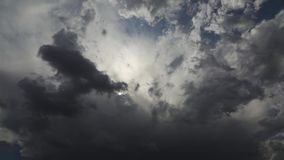 Clouds Timelapse in the wide sky stock video footage