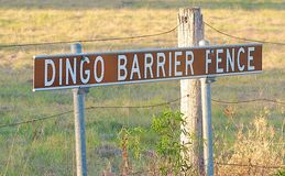 The Beginning of the Dingo Fence Queensland Australia Stock Images