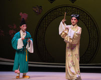 "The beginning of the encounter-Kunqu Opera ""the West Chamber"" Stock Photos"
