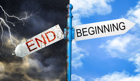 Beginning or ending concept. Royalty Free Stock Image