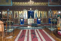 Before the beginning of the festival of Orthodox music in the Church of the Transfiguration of Our Lord in Pomorie, Bulgaria Stock Photos