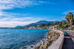 The beginning  of the french riviera Royalty Free Stock Image
