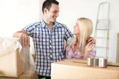 Beginning of living  together Royalty Free Stock Images