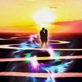 The Beginning of Love vector illustration