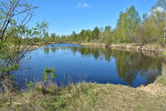 The beginning of may on a protected river. Royalty Free Stock Photos